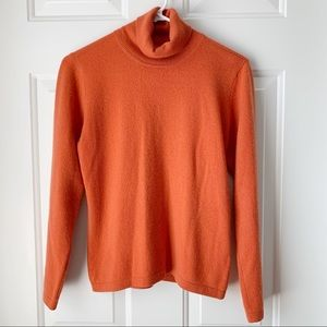 Cashmere Turtleneck Sweater Coral Small -sz38